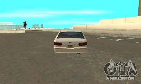 Caprice styled Premier para GTA San Andreas traseira esquerda vista