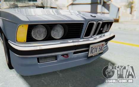 BMW M635 CSi (E24) 1984 IVF PJ1 para GTA San Andreas vista superior