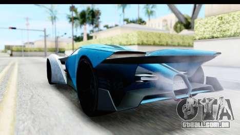 GTA 5 Grotti X80 Proto IVF para GTA San Andreas traseira esquerda vista