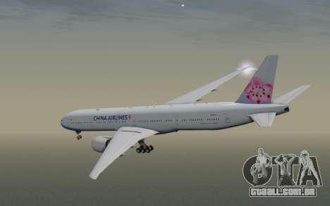 Boeing 777-300ER China Airlines para GTA San Andreas vista direita