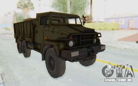 MGSV Phantom Pain BOAR 53CT Truck para GTA San Andreas traseira esquerda vista