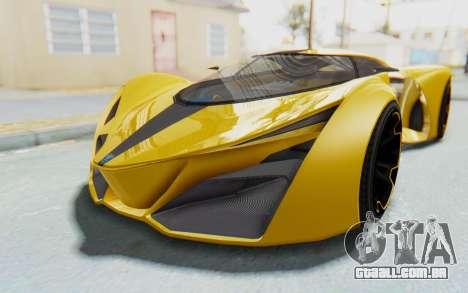 GTA 5 Grotti Prototipo v2 IVF para GTA San Andreas traseira esquerda vista