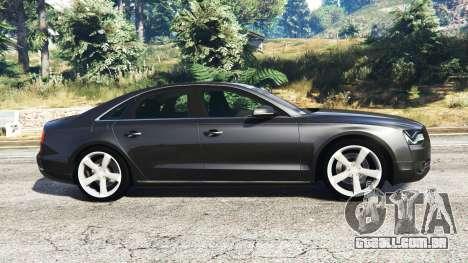 GTA 5 Audi A8 FSI 2010 vista lateral esquerda