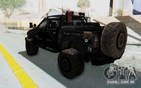 Toyota Hilux Technical Vindicator SecFor para GTA San Andreas esquerda vista
