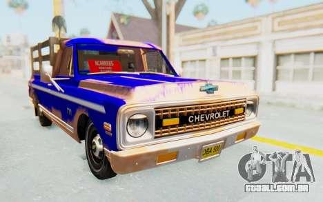 Chevrolet C10 1970 para GTA San Andreas vista direita