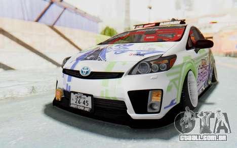 Toyota Prius Hybrid 2011 Hellaflush IF Itasha para GTA San Andreas vista direita