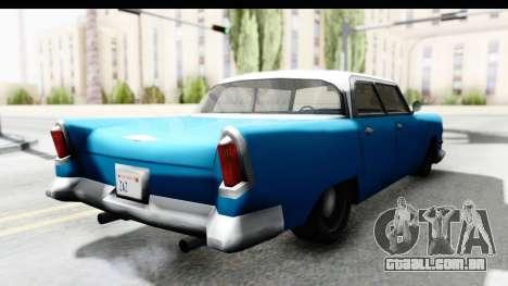 Cabbie Oceanic para GTA San Andreas traseira esquerda vista