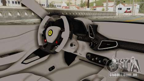 Ferrari 458 VPM Crew para GTA San Andreas vista interior