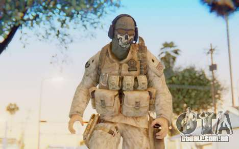 CoD MW2 Ghost Model v5 para GTA San Andreas