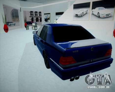 Mercedes Benz W140 Brabus para GTA San Andreas esquerda vista