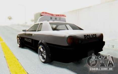 Elegy Japanese Police para GTA San Andreas esquerda vista