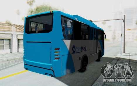 Hino Evo-C Transjakarta Feeder Bus para GTA San Andreas traseira esquerda vista