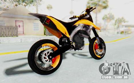 Kawasaki KLX150SD Tracker Supermoto para GTA San Andreas esquerda vista