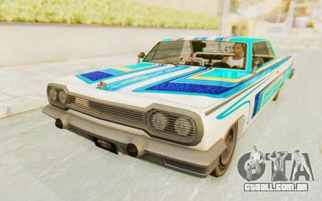 GTA 5 Declasse Voodoo Alternative v1 para GTA San Andreas vista traseira