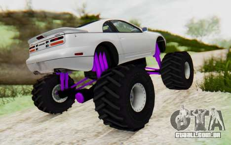 Nissan 300ZX Monster Truck para GTA San Andreas traseira esquerda vista