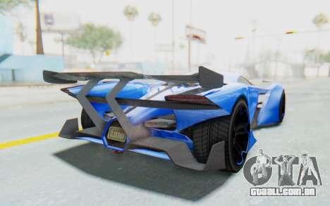 GTA 5 Grotti Prototipo v1 para GTA San Andreas traseira esquerda vista