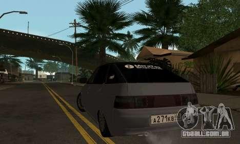 VAZ 2112 GVR para GTA San Andreas traseira esquerda vista