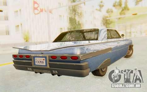 GTA 5 Declasse Voodoo Alternative v1 para GTA San Andreas esquerda vista
