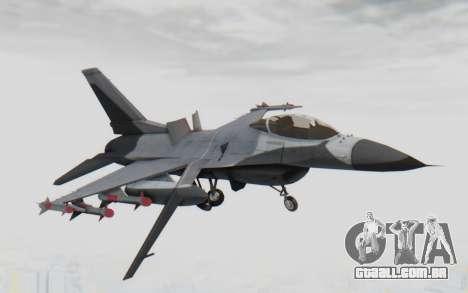F-16 with Russian Missile para GTA San Andreas traseira esquerda vista