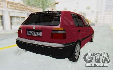 Volkswagen Golf 3 1994 para GTA San Andreas traseira esquerda vista