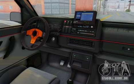 Volkswagen Golf 2 GTI 1.6V para GTA San Andreas vista interior