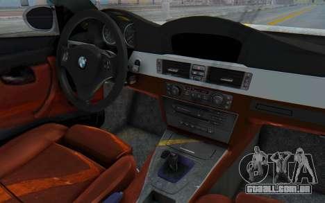BMW M3 E92 Liberty Walk LB Performance para GTA San Andreas vista interior