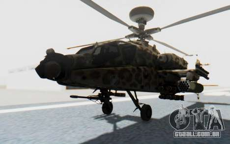 AH-64 Apache Leopard para GTA San Andreas vista direita