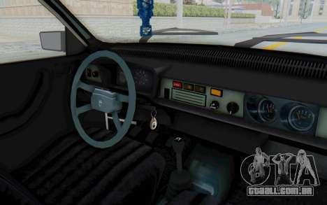 Dacia 1310 Break 1988 para GTA San Andreas vista interior