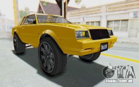 GTA 5 Willard Faction Custom Donk v1 IVF para GTA San Andreas vista direita