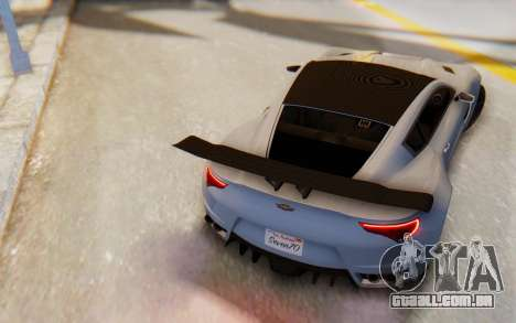 GTA 5 Dewbauchee Seven 70 SA Lights para GTA San Andreas esquerda vista