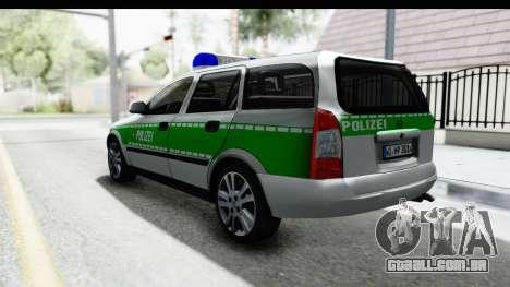 Opel Astra G Variant Polizei Bayern para GTA San Andreas esquerda vista
