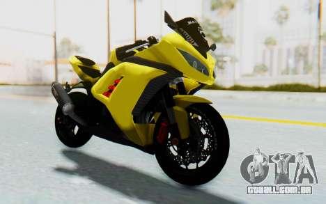 Kawasaki Ninja 250 Abs Streetrace v2 para GTA San Andreas vista direita