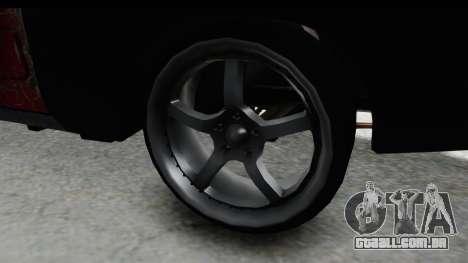 Dodge Charger Daytona F&F Bild para GTA San Andreas vista traseira