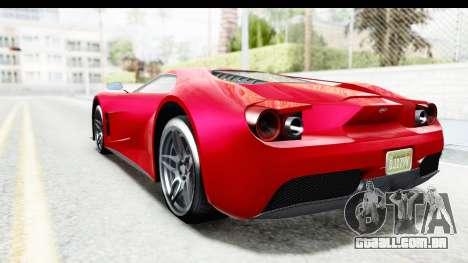 GTA 5 Vapid FMJ IVF para GTA San Andreas esquerda vista