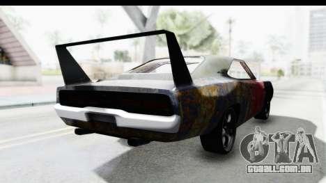 Dodge Charger Daytona F&F Bild para GTA San Andreas traseira esquerda vista