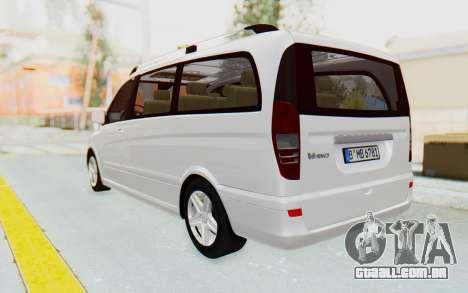 Mercedes-Benz Viano W639 2010 Long Version para GTA San Andreas esquerda vista