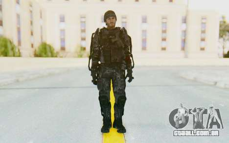 CoD Advanced Warfare Gideon para GTA San Andreas segunda tela