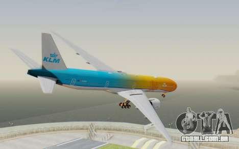 Boeing 777-300ER KLM - Royal Dutch Airlines v1 para GTA San Andreas esquerda vista