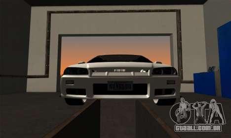 Nissan Skyline ER34 GT-R para GTA San Andreas vista traseira