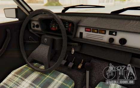 Dacia 1310 TLX para GTA San Andreas vista interior