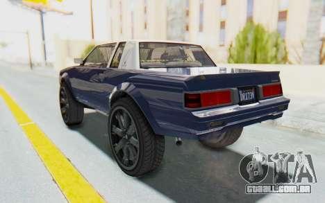 GTA 5 Willard Faction Custom Donk v1 para GTA San Andreas traseira esquerda vista