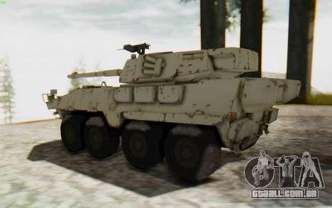 MGSV Phantom Pain STOUT IFV APC Tank v1 para GTA San Andreas esquerda vista