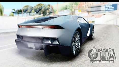 GTA 5 Pegassi Reaper v2 para GTA San Andreas esquerda vista