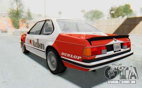 BMW M635 CSi (E24) 1984 IVF PJ1 para as rodas de GTA San Andreas