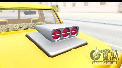 GTA 5 Vapid Slamvan without Hydro para GTA San Andreas vista interior
