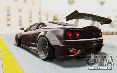Ferrari 360 Modena Liberty Walk LB Perfomance v1 para GTA San Andreas vista interior