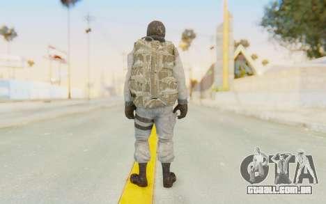 COD BO Bruce Harris Winter para GTA San Andreas terceira tela