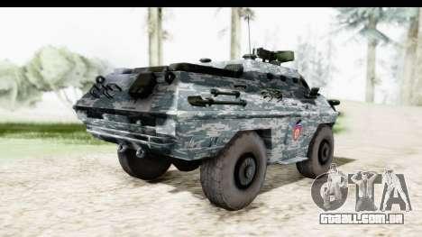 BOV 86M Žandarmerija para GTA San Andreas traseira esquerda vista