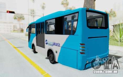 Hino Evo-C Transjakarta Feeder Bus para GTA San Andreas esquerda vista