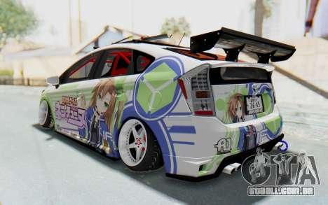 Toyota Prius Hybrid 2011 Hellaflush IF Itasha para GTA San Andreas traseira esquerda vista